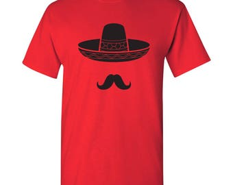 Sombrero Mustache T Shirt