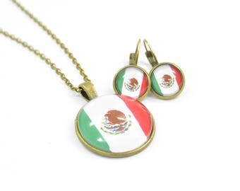 Set jewelry Necklace and Earring Mexico