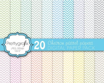 80% OFF SALE chevron digital paper, commercial use, scrapbook papers, background  - PS583