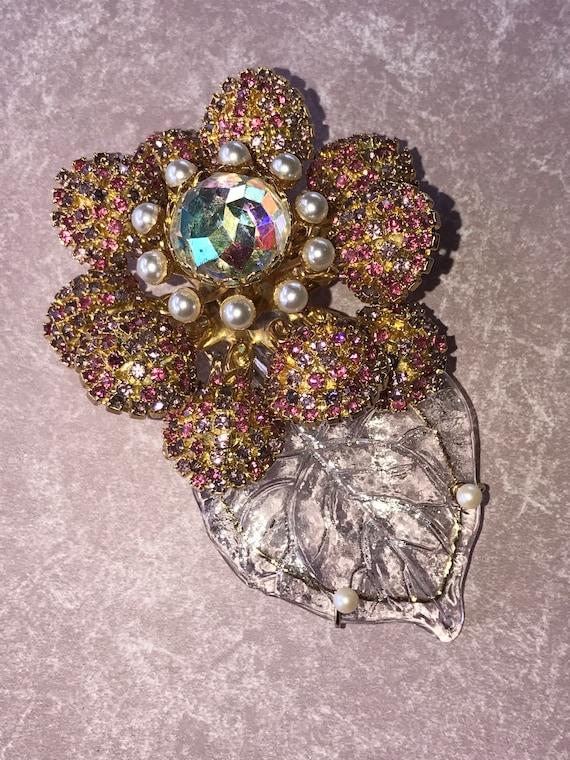 Lawrence VRBA Amazing Dimensional Flower Brooch