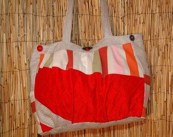 Alls Lou shoulder Patchwork fabric tote bag