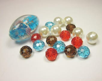 19 glass beads in assorted colors (BC46)
