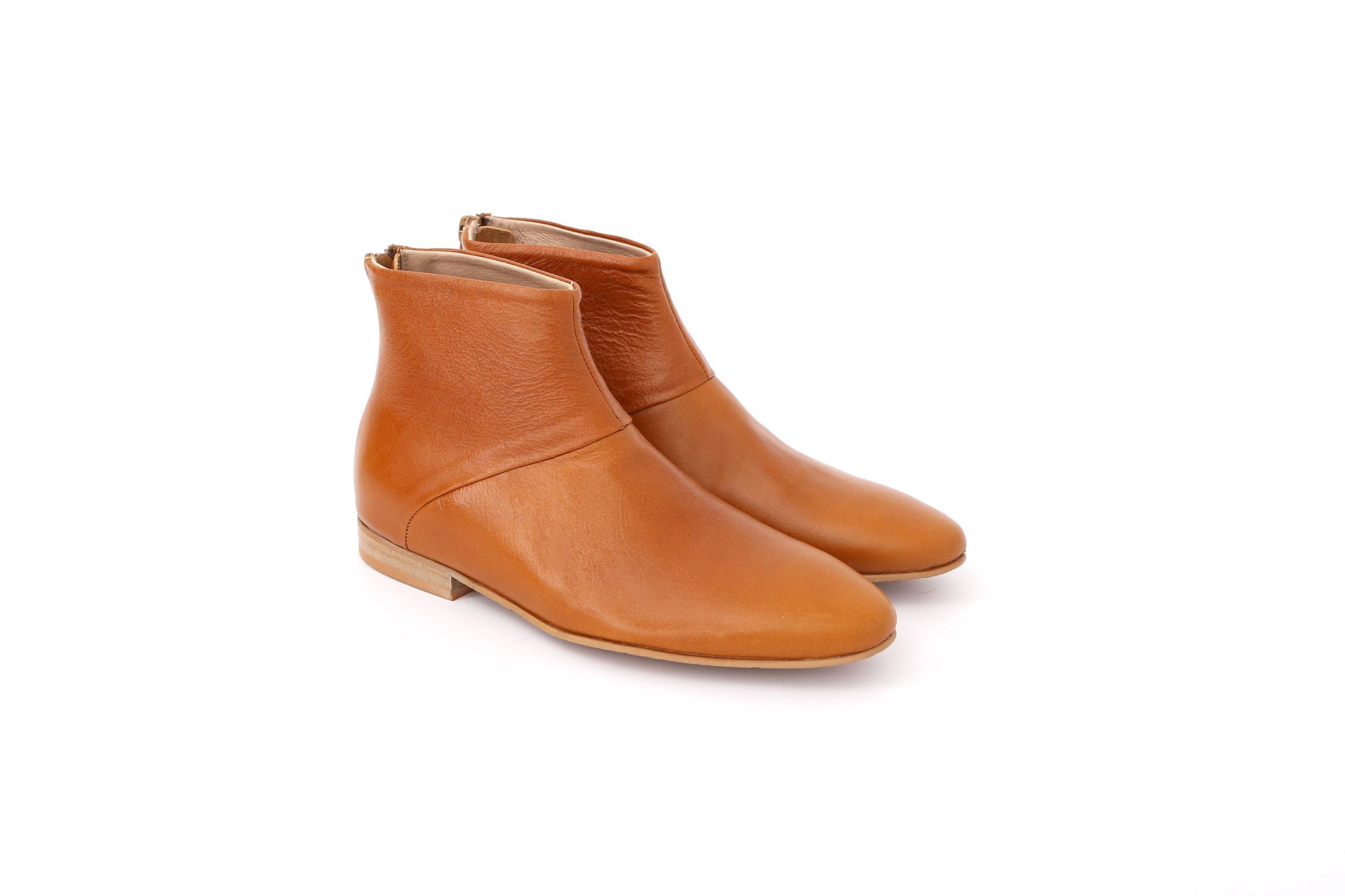 s boots flat ankle boots light brown camel
