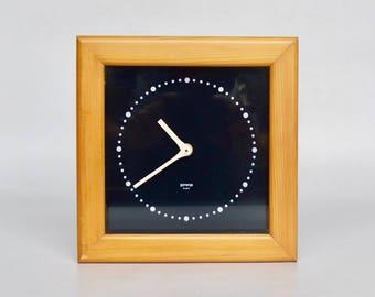 Vintage Wooden Wall Clock by Gorenje, 70s Yugoslavia