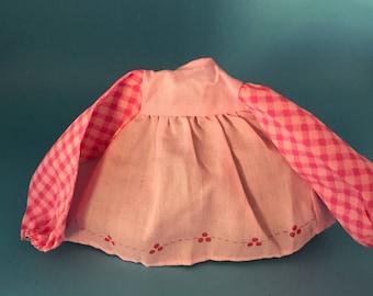 Raspberry Tart rag doll dress