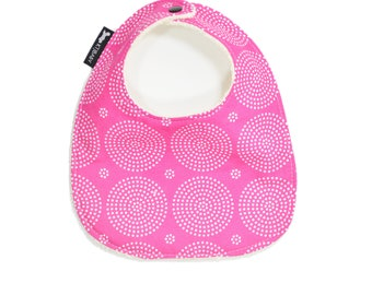 Pink Baby Bib or Toddler Bib | Pink Polka Dot Baby Bib | Baby Girl Bib | Pink Toddler Bib | Girl Baby Shower Gift |  Pink Baby Gift