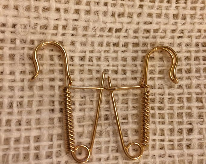 Knitting Pin Pair - Traditional Portuguese Knitting -Golden