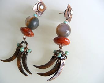 Ethnic earrings the Martinique