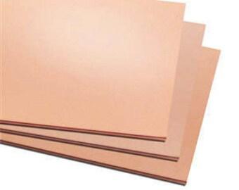 """9 Pack 2""""x2"""" Copper Sheet Metal,  Blanks, Stamping, Choice of Gauge, Supplies, Findings, Metal Work"""