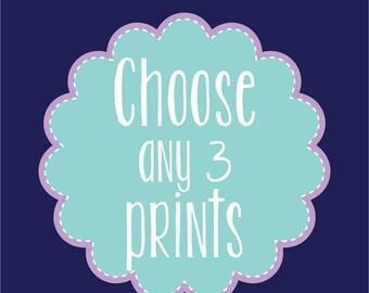 Nursery Wall Decor Home Decor Prints Mix and Match Choose Your Size Any three Prints Nursery Art Wall Art Kids Room Decor Digital Art Prints