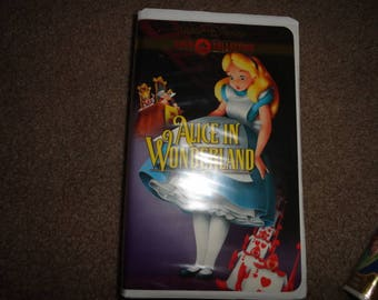 Disney collectible vhs tape vintage vcr alice in wonderland-vcr-vhs-tape-vhs tape- vcr tape- vcr machine- tape player--Disney--Disney-