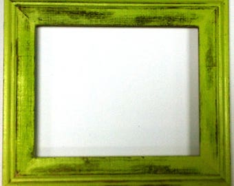 "1-3/4"" Pale Green Distressed Picture Frame"