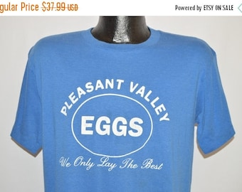 ON SALE 80s Pleasant Valley Eggs t-shirt Large
