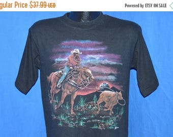 ON SALE 80s Cowboy Lasso Calf t-shirt Medium