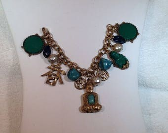 Green Buddha Charm Bracelet