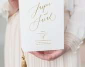 LUXE Order of Service Booklet with tassel - Wedding Program Book