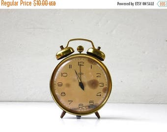 ON SALE Vintage Blue Alarm Clock With Bell - MOM