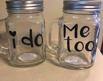 Personalized Mason Jar Mugs