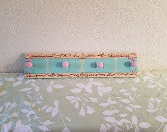 French candy hand painted coat rack