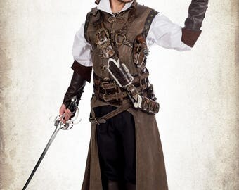 Pirate complete set for LARP, action roleplaying and cosplay
