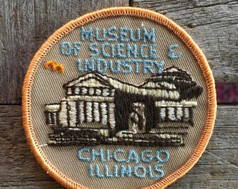 Chicago Illinois Museum of Science and Industry Souvenir Travel Patch