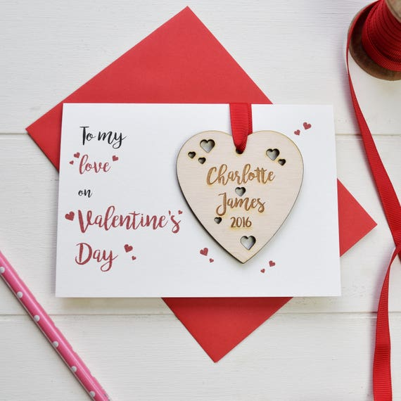 Valentine's Card and love token - Personalised Valentine's card - Love card