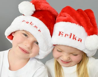 Personalised Red Santa Hats