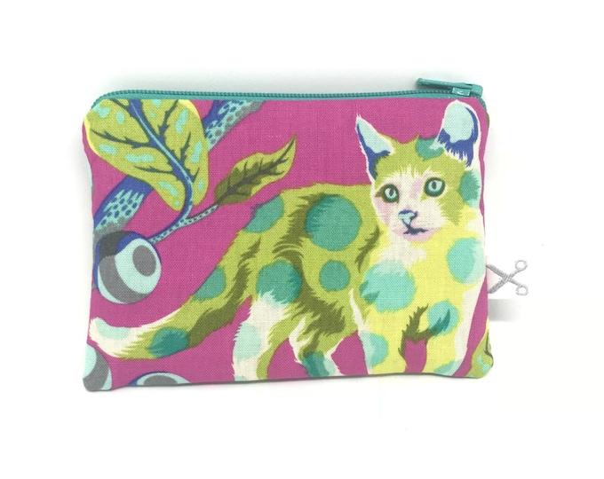 Mini zipper pouch Disco Kitty berry