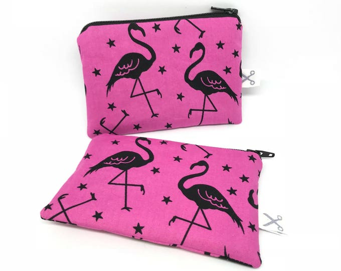 Mini zipper pouch Flamingo pink