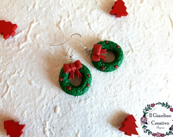 Christmas Garland earrings, flakes, Christmas, party