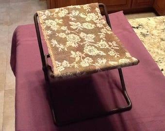 Antique Cast Iron Upholstered Buggy/Carriage Step