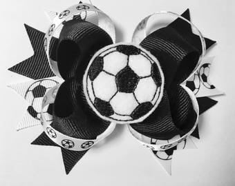 Loopy Soccer Hairbow