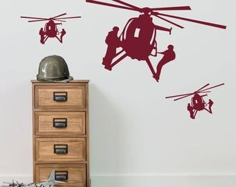 Military Helicopters Stickers A6