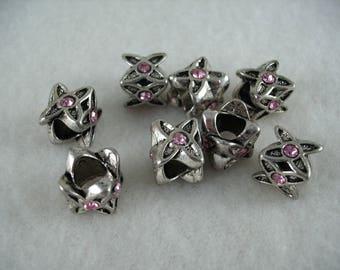 Metal bead, 8 pieces  (922)