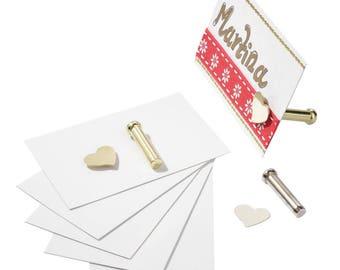 Placecard holder, magnetic, set of 6, Gold Color