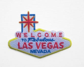 Las Vegas Sign Patch, Iron on patch, Fashion Patch, Fun Patch, Jacket patch, Las Vegas Patch, Retro Patch, Nevada Patch, Patch Signpost