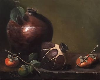 Persimmons and Pottery