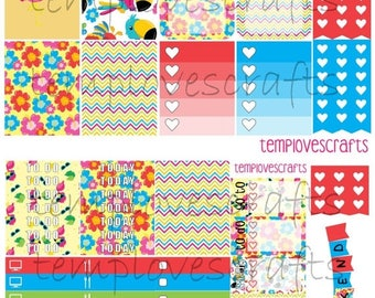 Tropical Birdie Kit for Erin Condren Life Planner