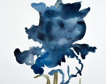 iris no. 10 . original watercolor painting