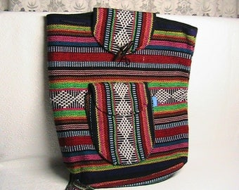 Backpack, Colorful Woven Hippie Hobo Backpack + Free Gift!