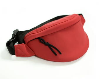 Watherproof Red Fanny Pack, Bumbag