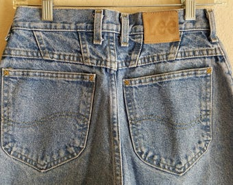 LEE Denim Jeans 80s 90s American Made USA Women Size 8