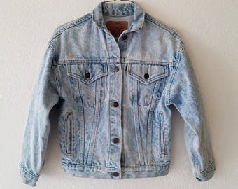 Levis Denim Jean Jacket Gold Tab 80s American Made USA Size Medium