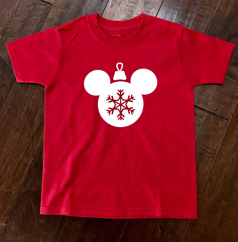 kids mickey mouse christmas ornament shirt kids disney world christmas shirt sizes 6m to