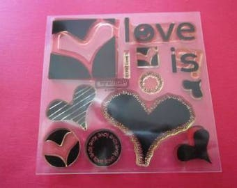 My Acrylix Stamp Set B1197 Love Is - Close To My Heart  - Used - Use For Scrapbooking Paper Crafting - Card Making Retired Hard To Find