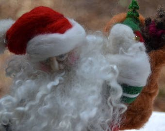 Vintage Father Christmas Santa Claus Needle Felted