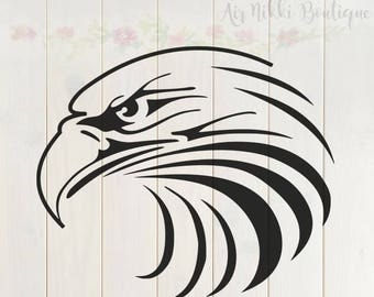 Eagle Head SVG, PNG, DXF files, instant download