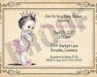 Princess Baby Shower Invitation *DIGITAL*