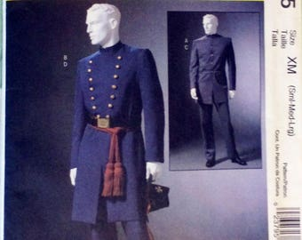 McCall's Sewing Pattern M4745 Mens Costumes, XM (S,M,L), Civil War coat, Civil War pants, Civil War costume, Sewing Pattern