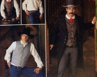 Simplicity Sewing Pattern 2895 Men's Costumes, BB (46-52), Cowboy Pattern, Wild West Pattern, Jacket and Vest Pattern, Sewing Pattern